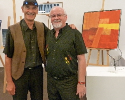 Pierre Riche & Franz Hägeli voller Erwartungen an der Vernissage